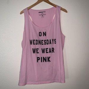 Mean Girls (Size 2X) Pink Tank Top